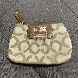 Coach wallet with key chain holder